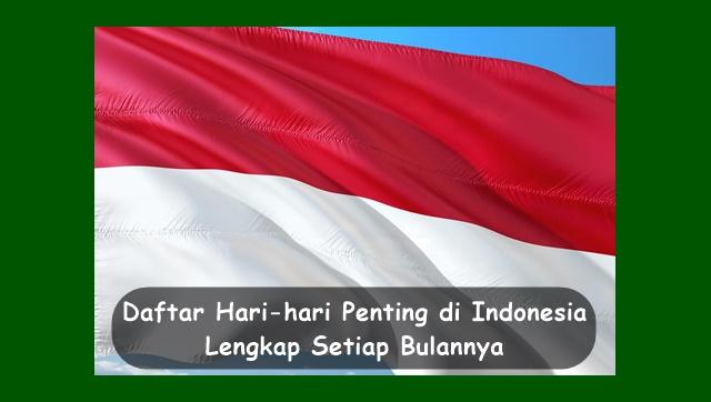 Hari-hari Penting di Indonesia