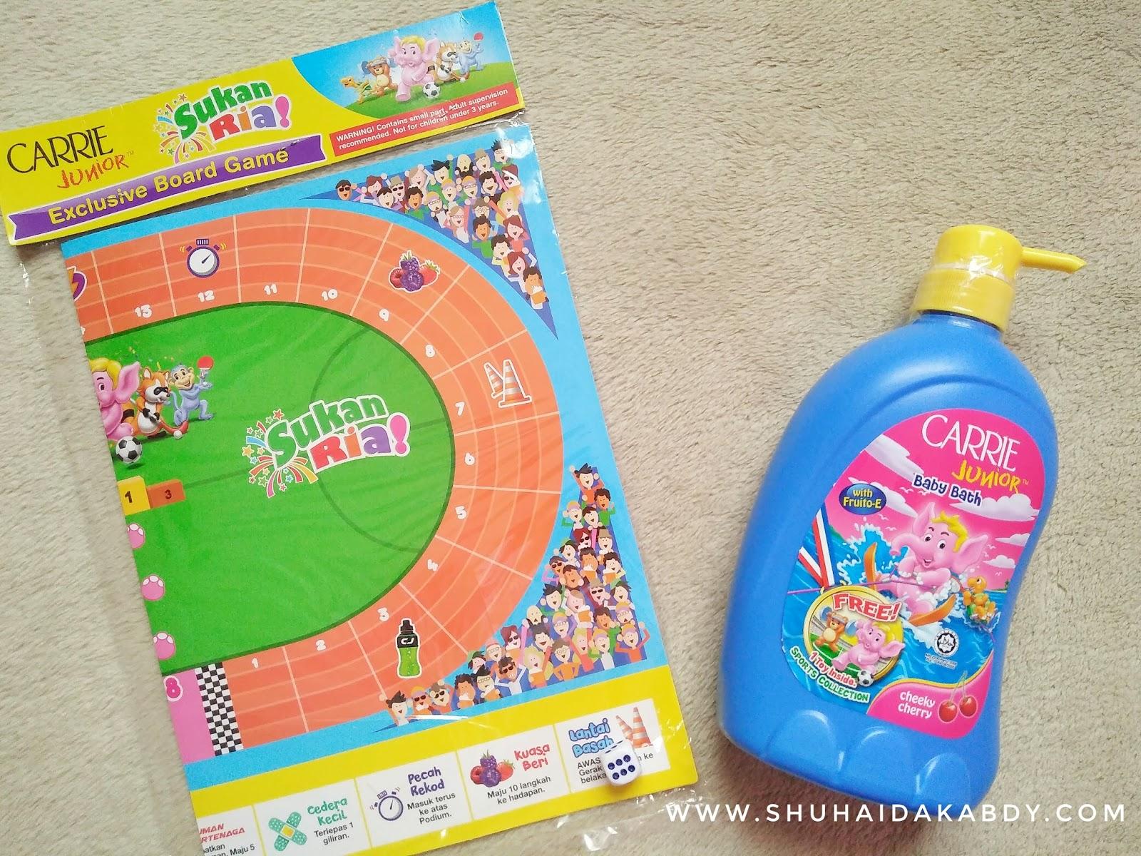 Mandian Carrie Junior Baru Dengan Koleksi Mainan Sukan Ria