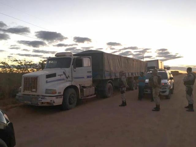 Carreta com 38 toneladas de soja é recuperada no Oeste da Bahia