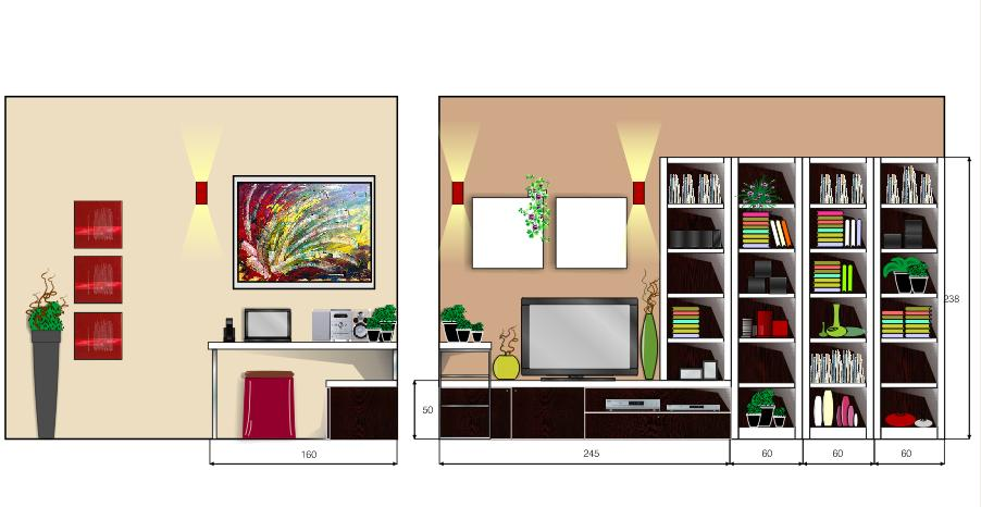 Cucina Con Doppi Pensili : La casa rosso papavero progettazione