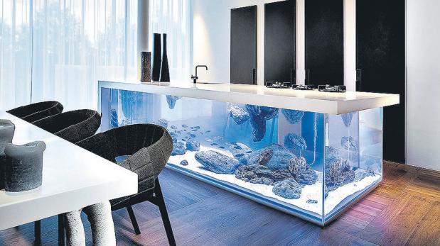 Decora hogar peceras o acuarios para tu decoraci n - Pecera de pared ...