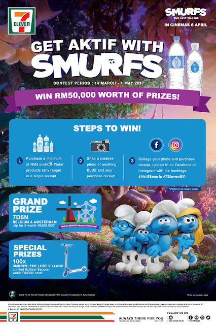 Get Aktif with Smurfs!