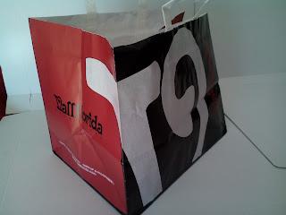 bolsa de papel ancha