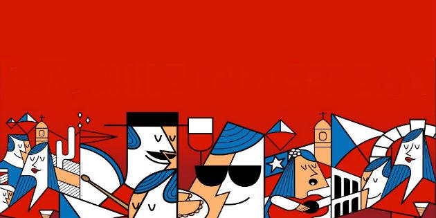 Ilustración de Fiestas Patrias en La Serena