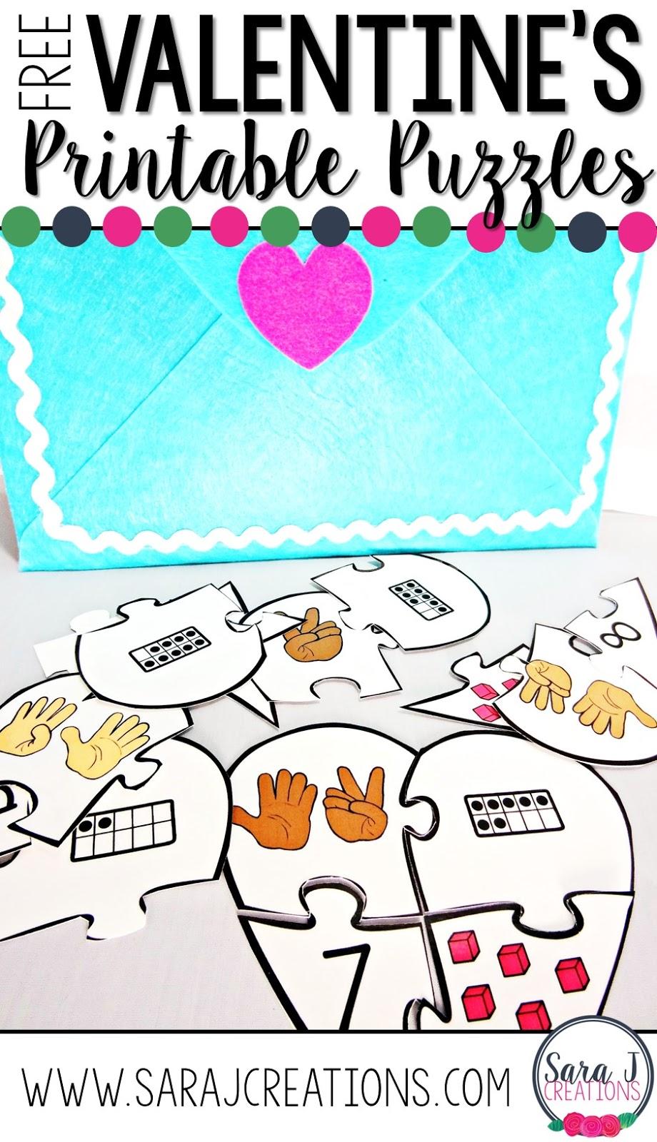 Winter Fun + Valentine\'s Day FREEBIES | Sara J Creations
