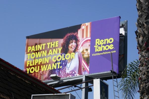 Paint the town Reno Tahoe billboard