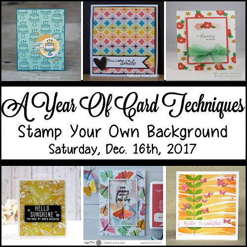 Stamp Your Own Background Blog Hop