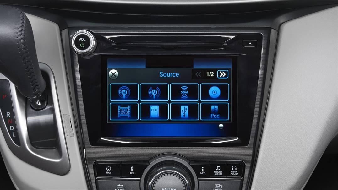 Các thông số giải trí, máy móc, điều khiển qua các nút chạm