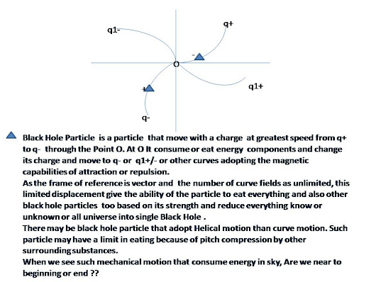 Black Hole Particle Motion : Is it end or beginning of Universe
