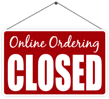 Online Ordering Closed