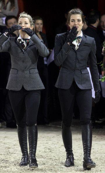 Athina Onassis e Charlotte Casiraghi, roupa hipismo