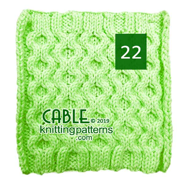 Cable Knitting Pattern 22