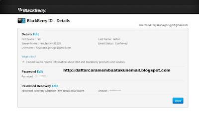 Bagaimana Cara Daftar Blackberry ID Terbaru