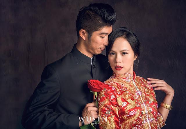 徐若瑄龍鳳褂婚紗風格wusenphoto御囍龍鳳褂