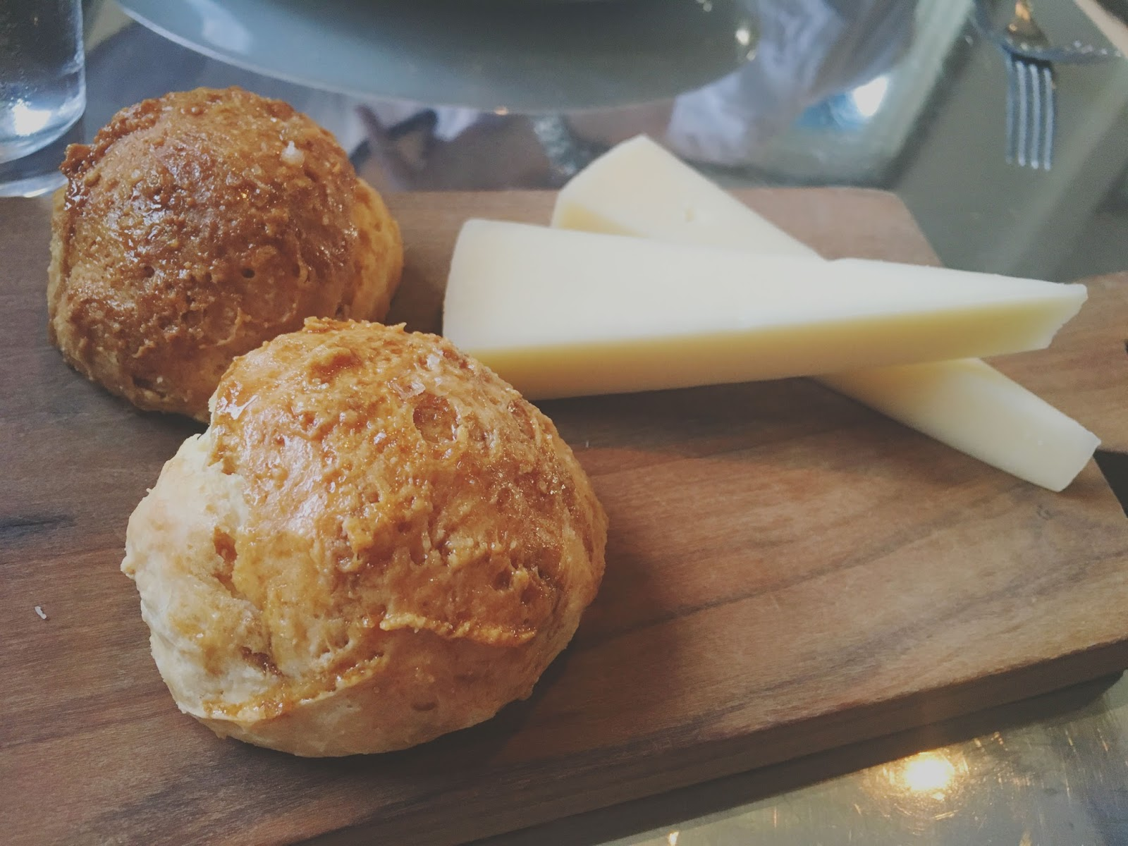 cheese and biscuits at Ad Hoc - a restaurant in Napa, California
