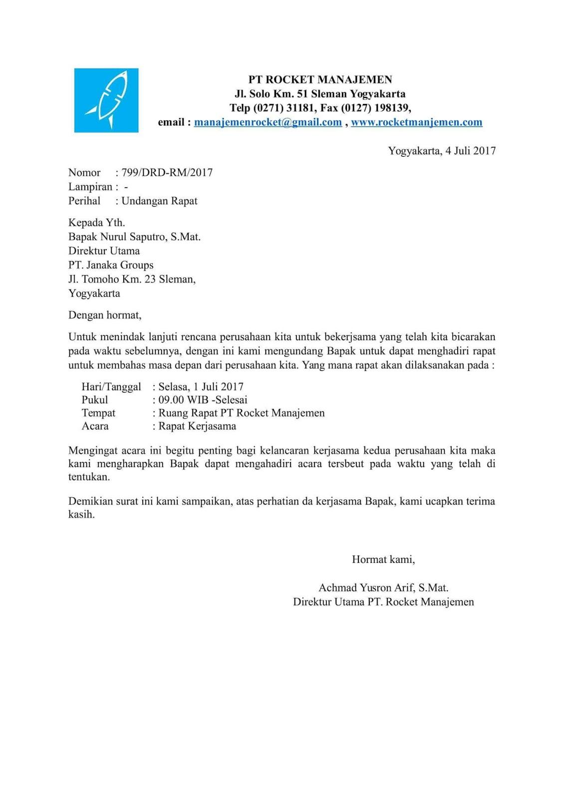 Contoh Surat Dinas Perusahaan