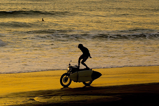 SURFING WITH MY SCRAMBLER