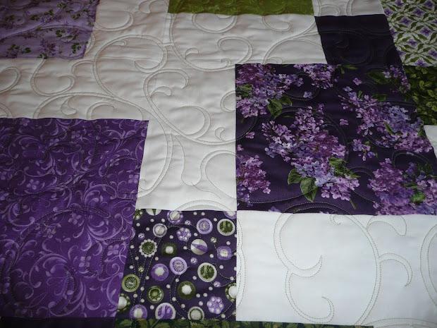 Acorn Ridge Quilting Susan' Fresh Lilac Quilt
