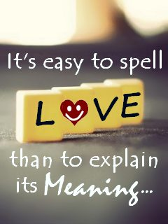 telling love is hard to explain