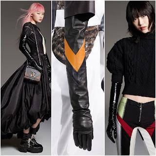 Tendencias de Louis Vuitton en guantes piel largos