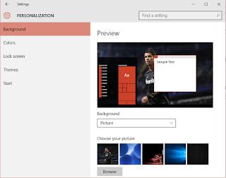 personalization setting
