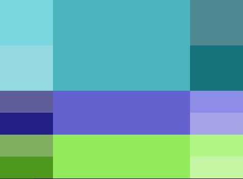 paleta de colores analogo para blog de educación o literatura