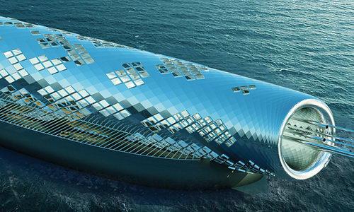 Desain Konsep Pipa Artistik Raksasa Suplai 4,5 Miliar Liter Air Minum dari Laut