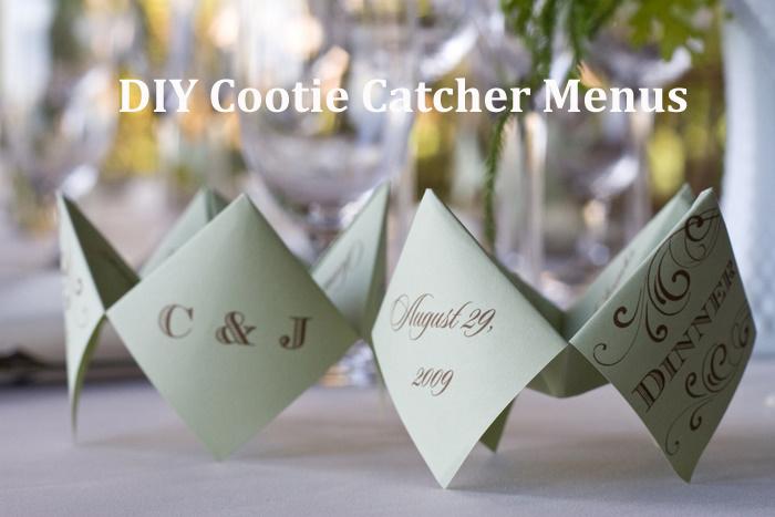 Diy Cootie Catcher Wedding Menus Via Oh Lovely Day Photo By Jennifer Roper