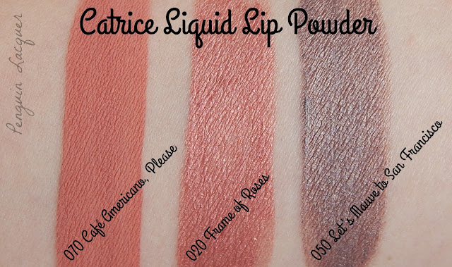 catrice liquid lip powder swatch