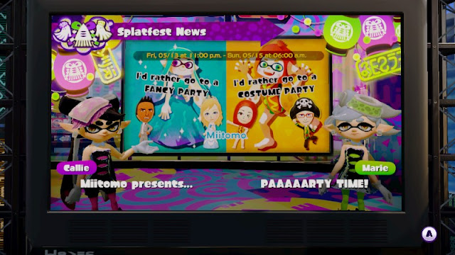 Splatfest I'd rather go a FANCY PARTY COSTUME PARTY Callie Marie Splatoon announcement