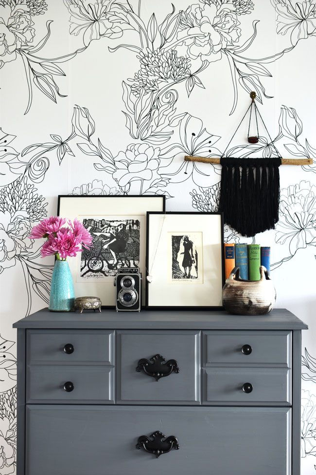 Tips for styling a bedroom dresser.