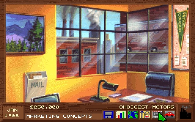 Screenshot from computer game Detroit of Marketing Division