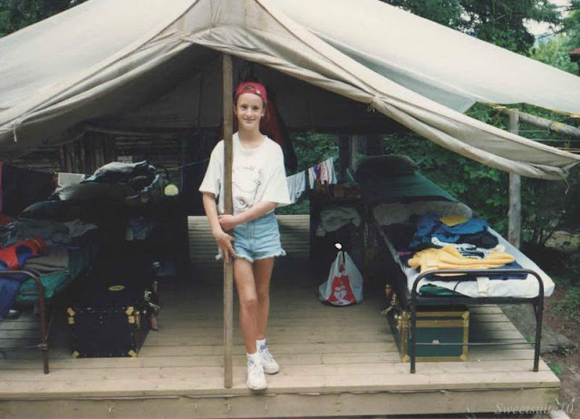 vintage me at Camp in 1992