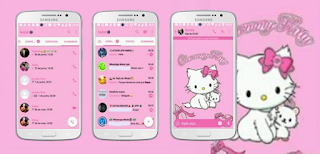 Cute Hello Kitty Theme For GBWhatsApp By Leidhe