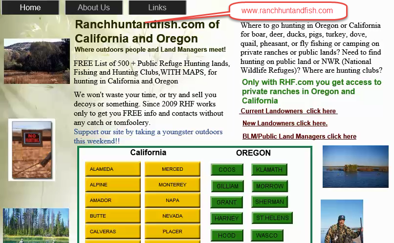 private hunting clubs in california with hunting ranches