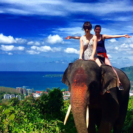 Ridding Elephant Bareback with Pang Chang Kamala Elephant Camp Phuket