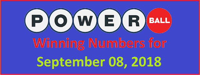 PowerBall Winning Numbers for Saturday, 08 September 2018
