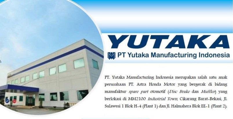 Informasi Loker Terbaru 2018 PT. Yutaka Manufacturing Indonesia (YMI) Cikarang