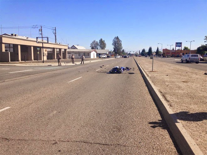 oildale kern county motorcycle accident suv hit-and-run airport drive