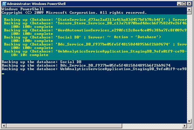 Backup-Restore All SharePoint Databases in SQL Server using PowerShell
