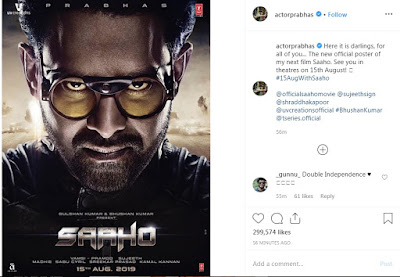South film saaho release date