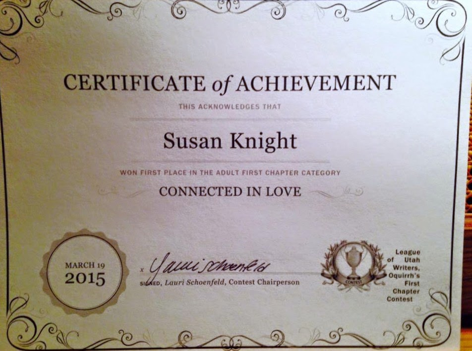 """Connected in Love"" won First Place in First Chapter Contest"