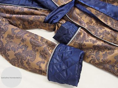 hausmantel gold blau luxus paisley herren morgenmantel elegant englisch lang gefüttert seide