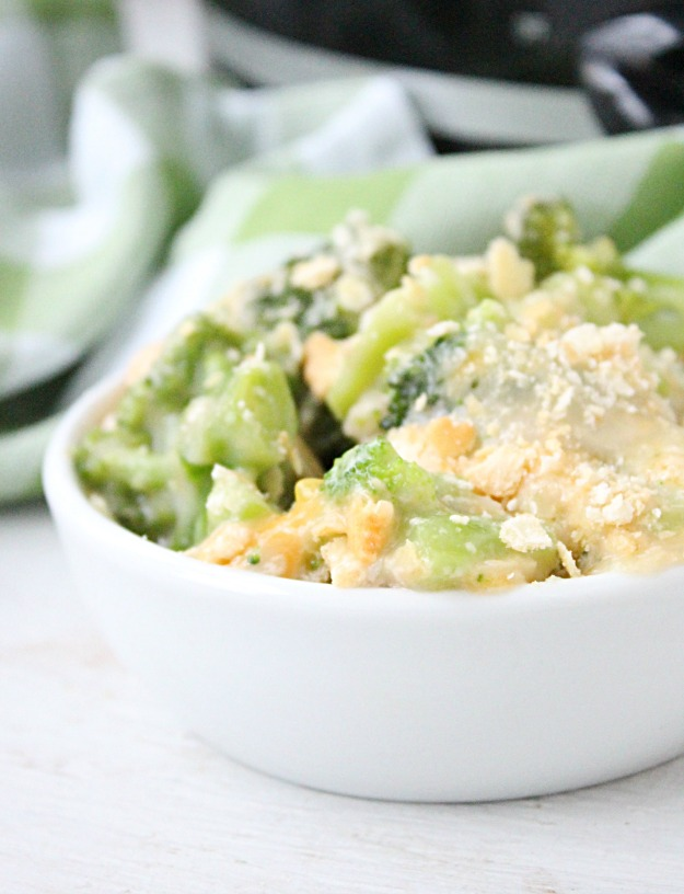 Crock Pot Broccoli and Cheese Casserole from Table for Seven