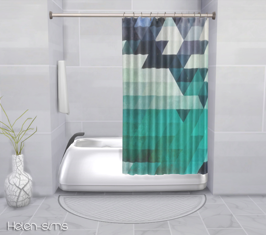 Helen Sims Ts4 Recolors Plasticbox S Shower Tub Curtain