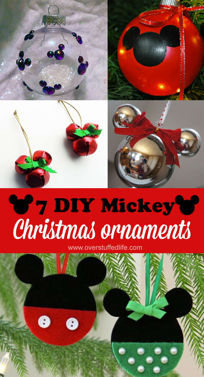 diy christmas ornaments mickey and minnie ornaments christmas craft projects diy disney christmas - Mickey Mouse Christmas Decorations