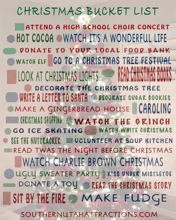 Southern Utah Attractions Generic Christmas Bucket List - Free