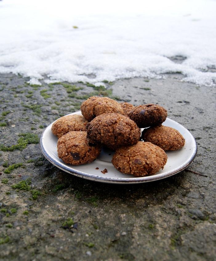Ciastka gryczane bezglutenowe z wiórkami kokosowymi i daktylami