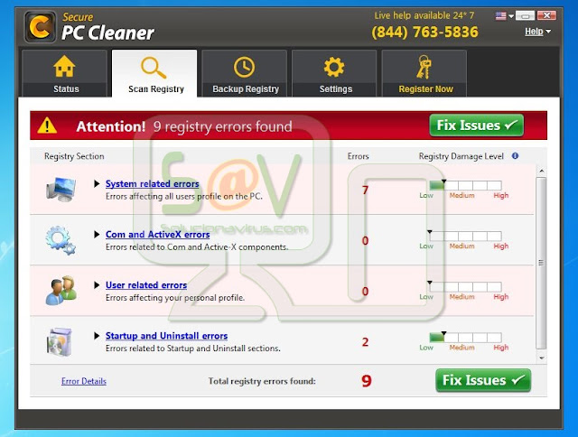 Secure PC Cleaner (Falso optimizador)