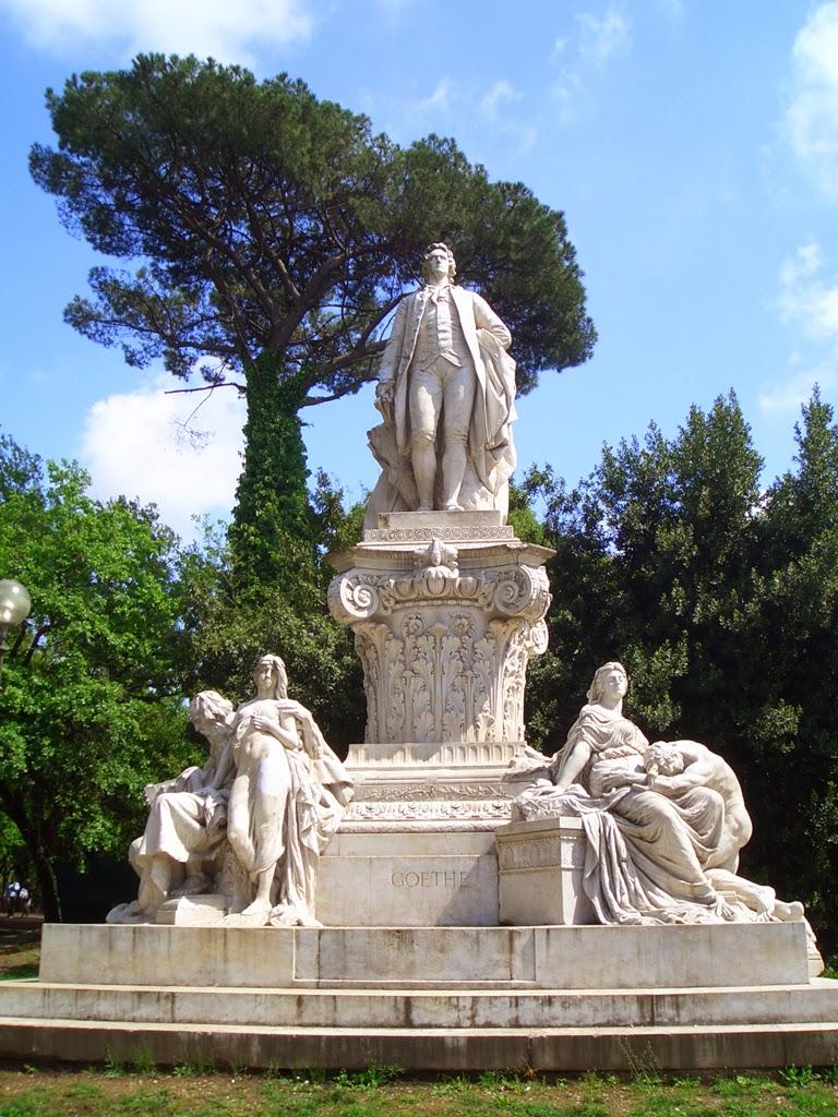 Gustav Eberlein - Monumento a Goethe, Villa Borghese - Roma